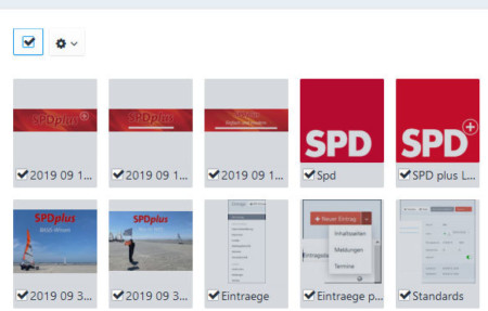 Markierte Datein im Dateiordner