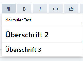 Formatieren des Textes