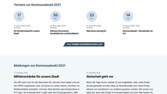 Landing Page zur Kommunalwahl
