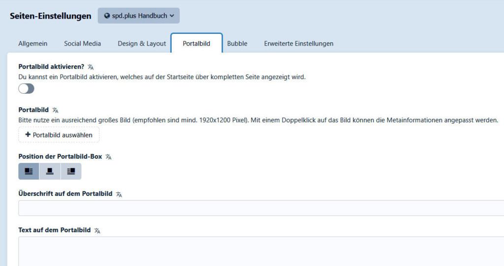 Tab Portalbild
