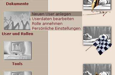 Screenshot Anlage eines neuen Users