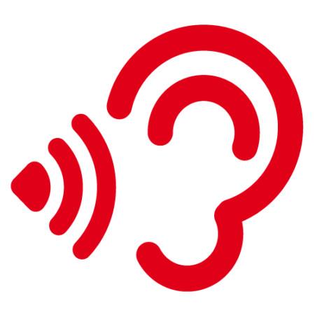 Grafisches Element: Das SPD-Lautsprecher-Ohr