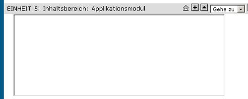 Screenshot des leeren Applikationsmoduls