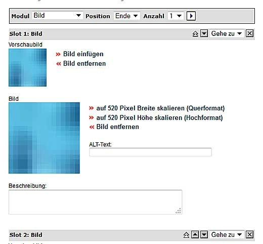 Bildergalerie - Modul (21.02.12)