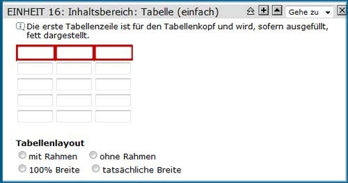 Screenshot Tabelle (einfach)