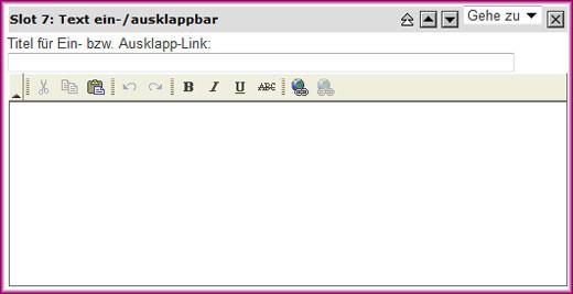 Screenshot Text ein-/ausklappbar - 1