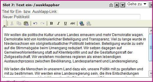 Screenshot Text ein-/ausklappbar - 2
