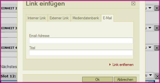 Linkmodul - E-Mail