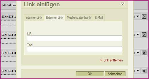 Linkmodul - Externer Link