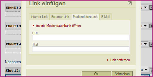 Linkmodul - Mediendatenbank