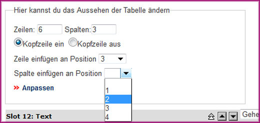 Screenshot Tabelle (alt) - 5