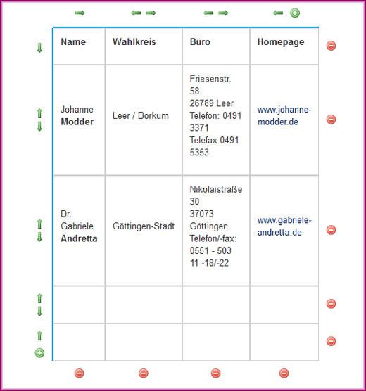 Screenshot Tabelle (erweitert) - 5