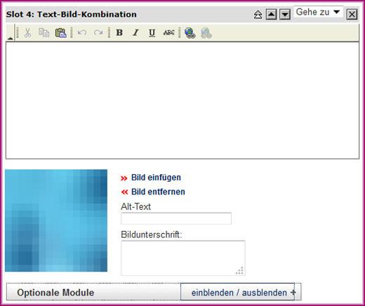 Screenshot der Text-Bild-Kombination - 1