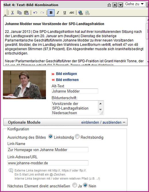Screenshot der Text-Bild-Kombination - 3