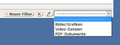 Filter - vordefiniert