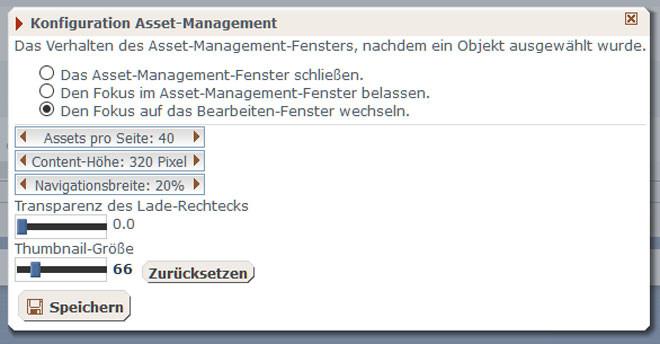 Konfiguration Asset Management